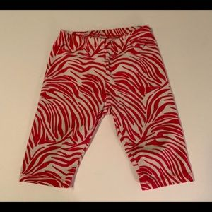 Girls 1989 Place Pants Size 18-24 Months Red White